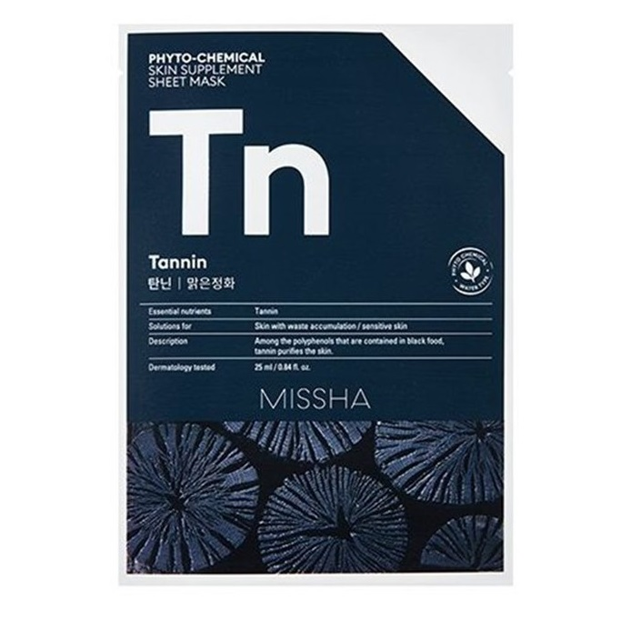 Mască pentru purificare cu Taninuri Phyto-Chemical Skin Supplement, 25 ml, Missha