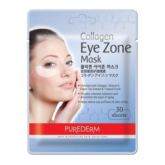 Masca pentru zona ochilor Collagen, 30 bucati, Purederm