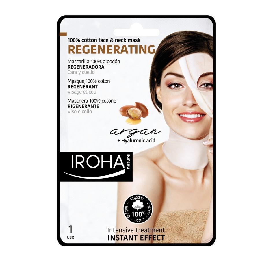 Masca regeneranta pentru fata si gat pe suport textil, 30 ml, Iroha