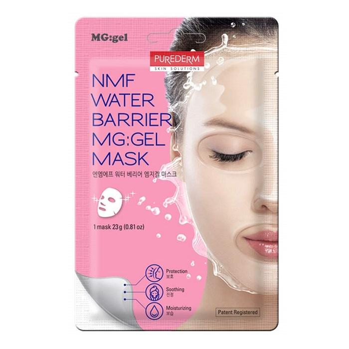 Mască tip MG: Gel cu aminoacizi, ceramide, apă de bambus, extract de lotus și aloe vera, 23 g, Purederm