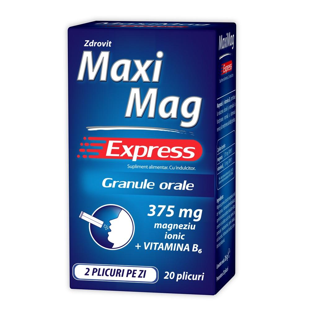 Maximag Express, 20 plicuri, Zdrovit