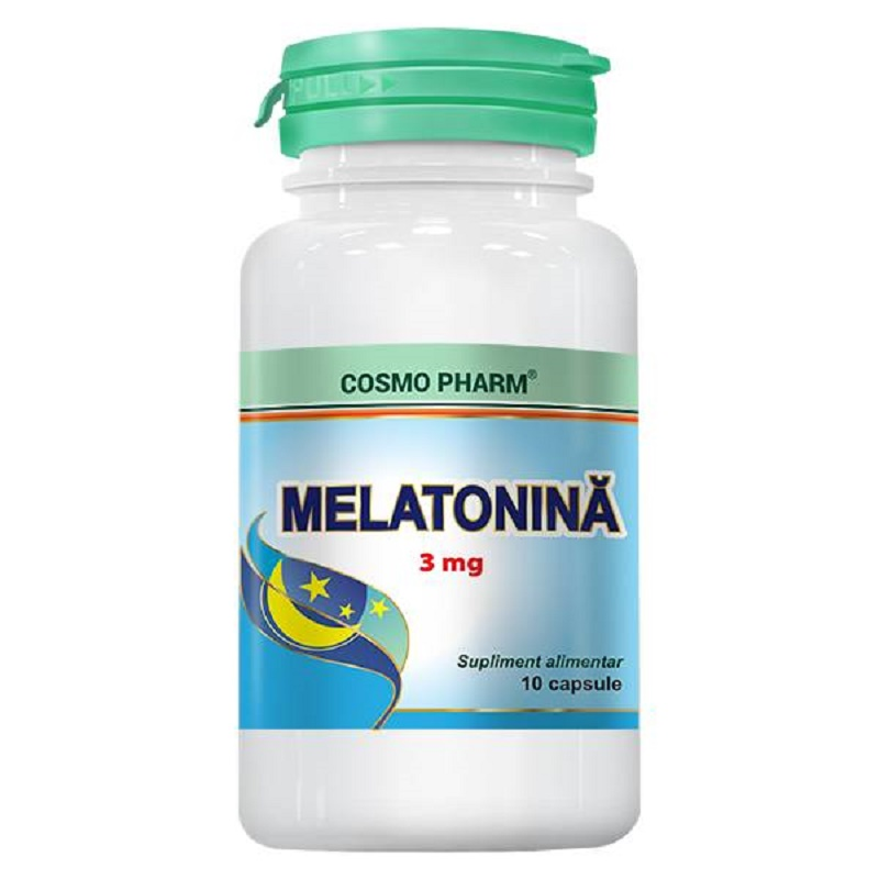 Melatonina, 3 mg, 10 capsule, Cosmopharm
