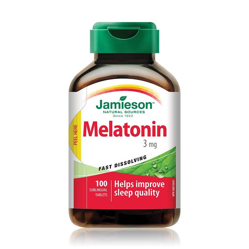 Melatonina 3mg, 100 tablete sublinguale, Jamieson