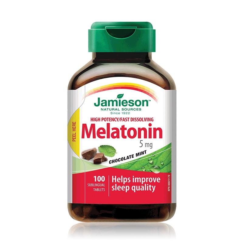 Melatonina 5mg, 100 tablete sublinguale, Jamieson