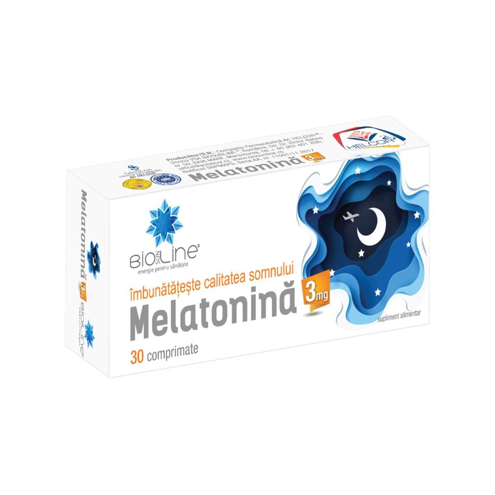 Melatonina 3 mg, 30 comprimate, Helcor