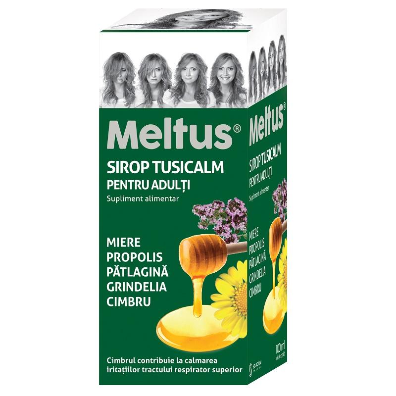 Sirop Tusicalm pentru adulti Meltus , 100 ml, Solacium Pharma