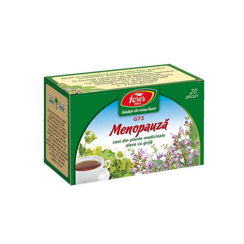 Ceai Menopauză, G72, 20 plicuri, Fares