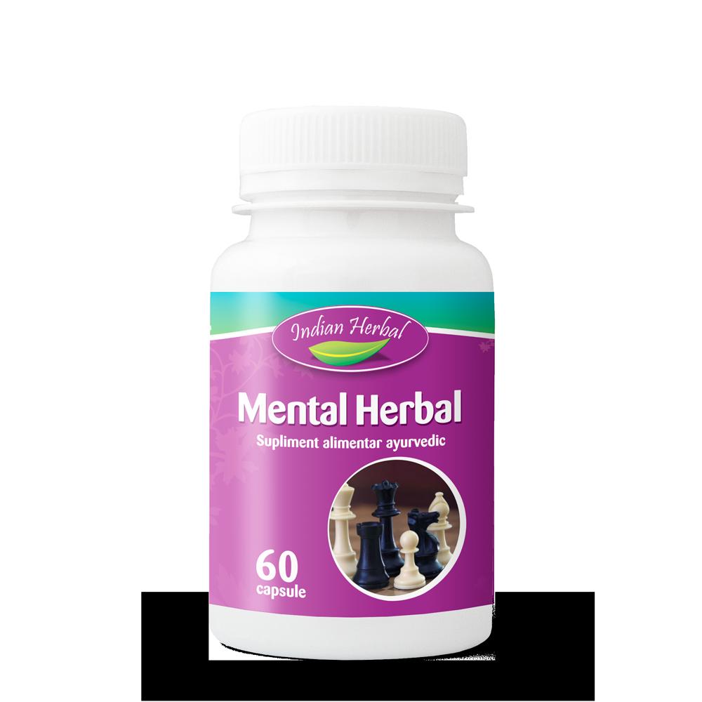Mental Herbal, 60 capsule, Indian Herbal