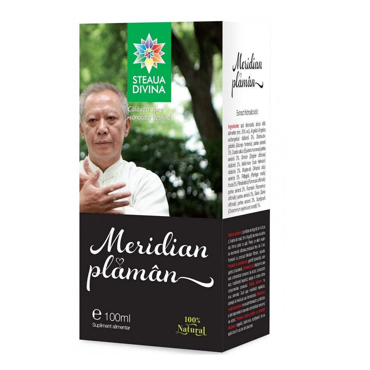 Meridian Plămân, 100 ml, Steaua Divină