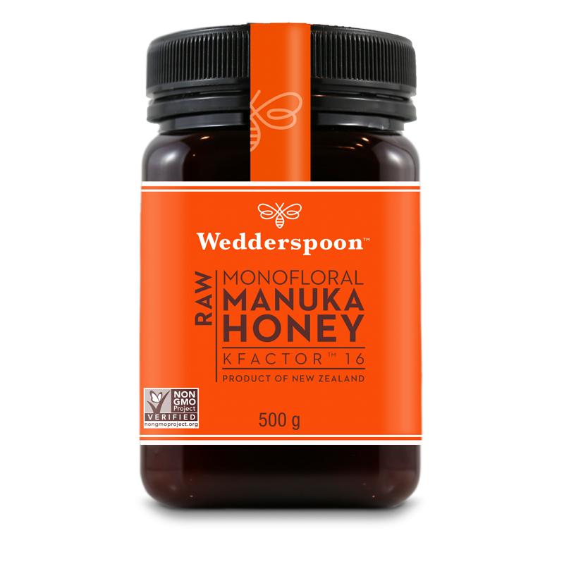 Miere de Manuka KFactor 16 RAW, 500 g, Wedderspoon