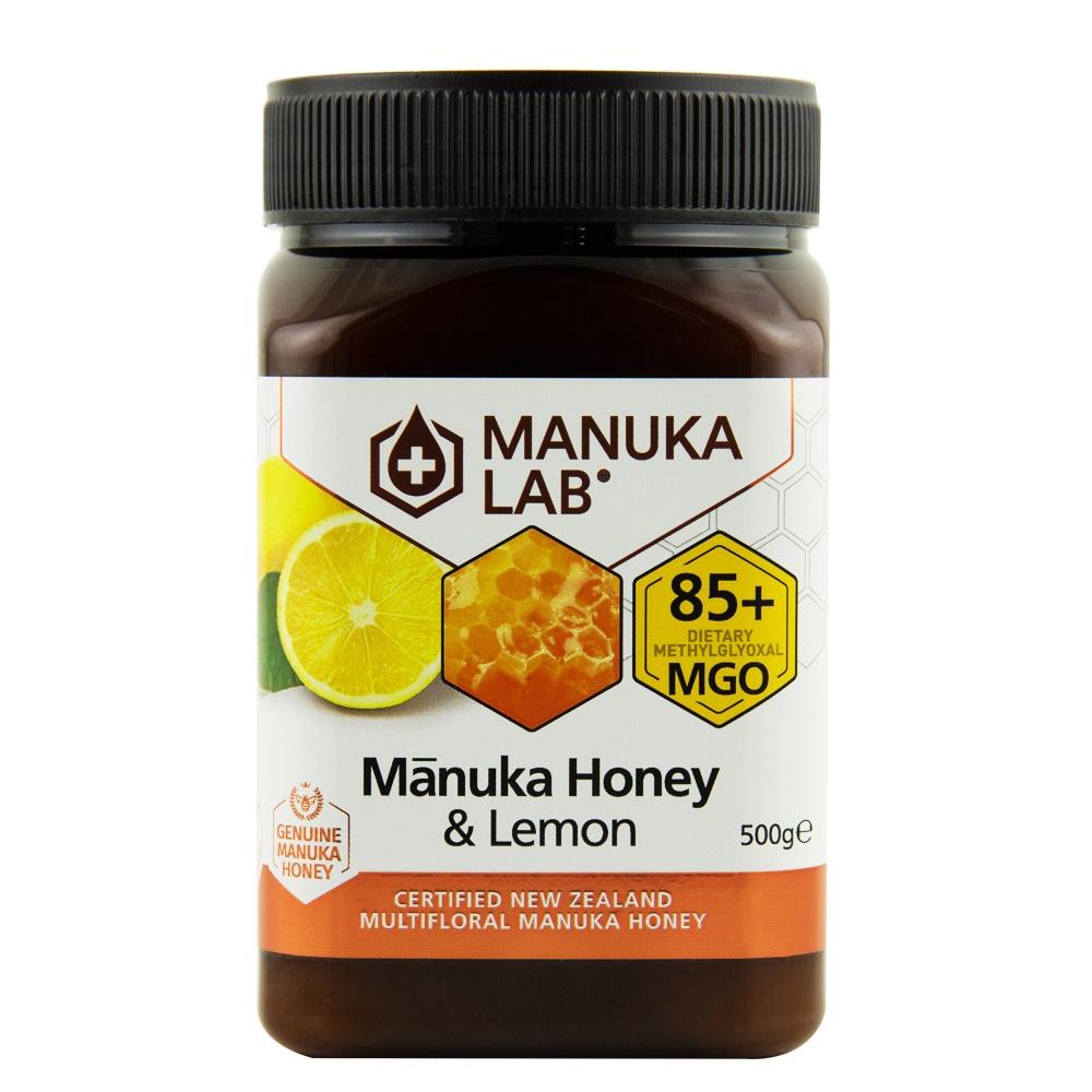 Miere de manuka poliflora cu lamaie MGO 85+, 500 g, Manuka Lab
