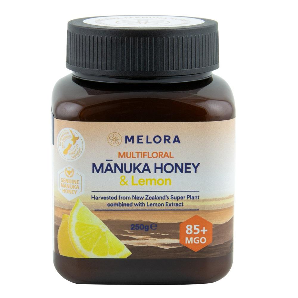 Miere de manuka poliflora cu lamaie MGO 85+, 250g, Melora