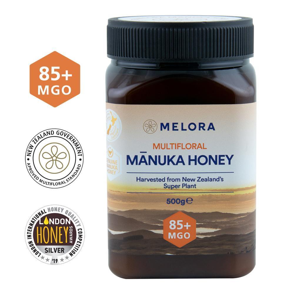 Miere de Manuka poliflora MELORA, MGO 85+ Noua Zeelanda, 500 g, Republica Bio