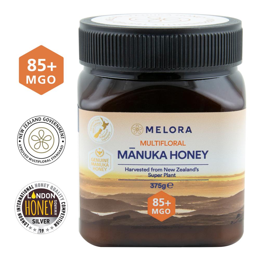 Miere de manuka poliflora MGO 85+, 375 g, Melora