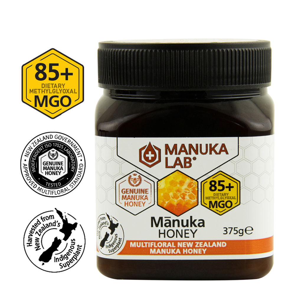 Miere de manuka poliflora MGO 85+, 375 g, Manuka Lab