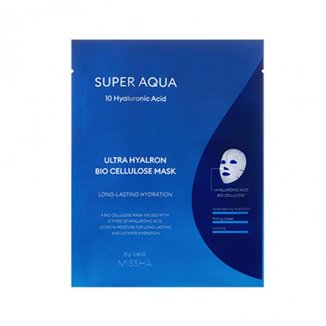 Masca ultra hidratanta cu acid hialuronic Super Aqua, 25 g, Missha