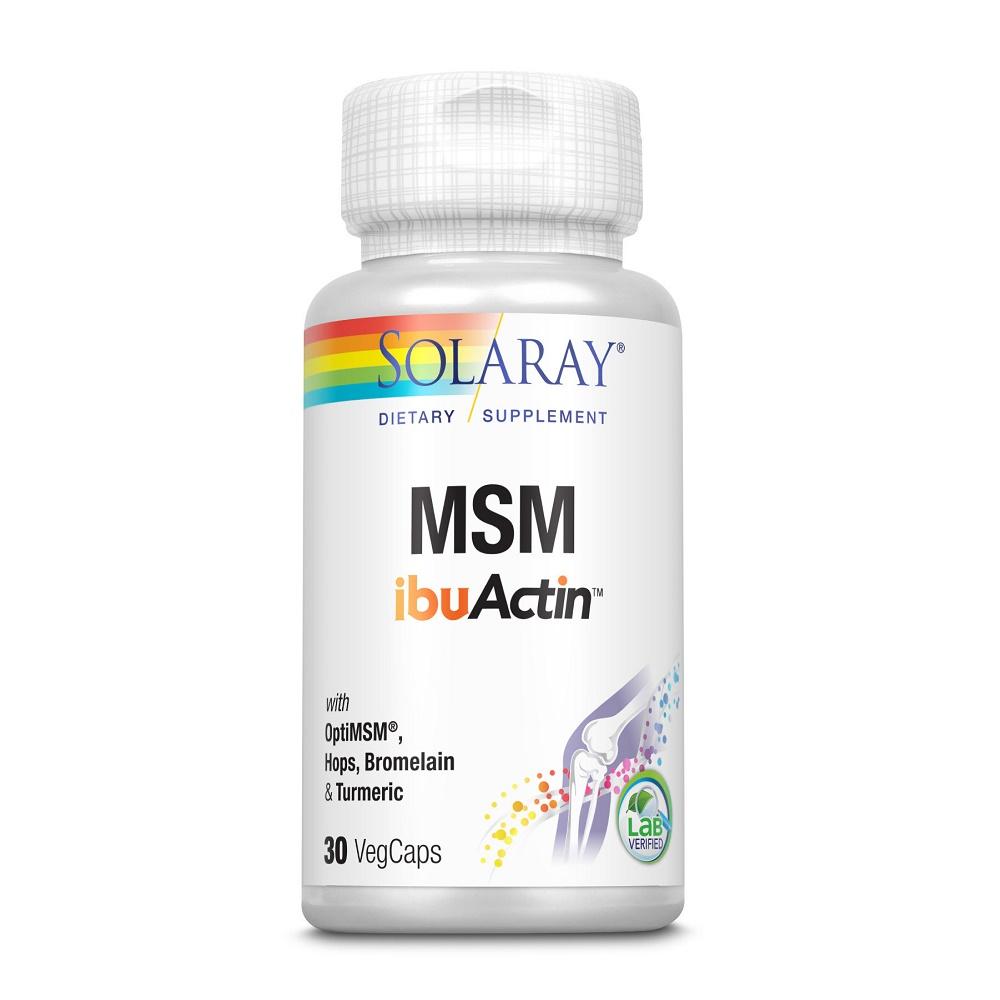 MSM ibuActin Solaray, 30 capsule, Secom