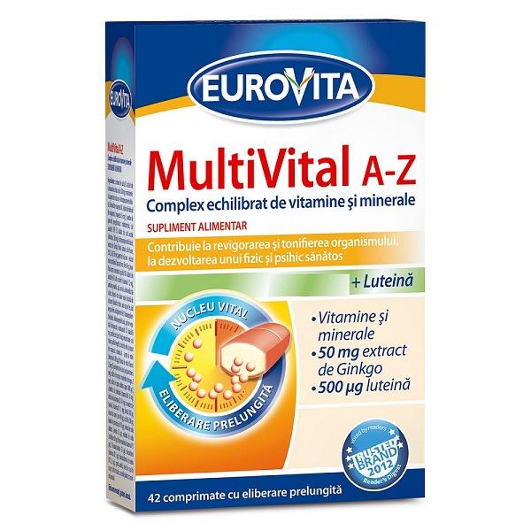 MultiVital A-Z, 42 comprimate, Eurovita