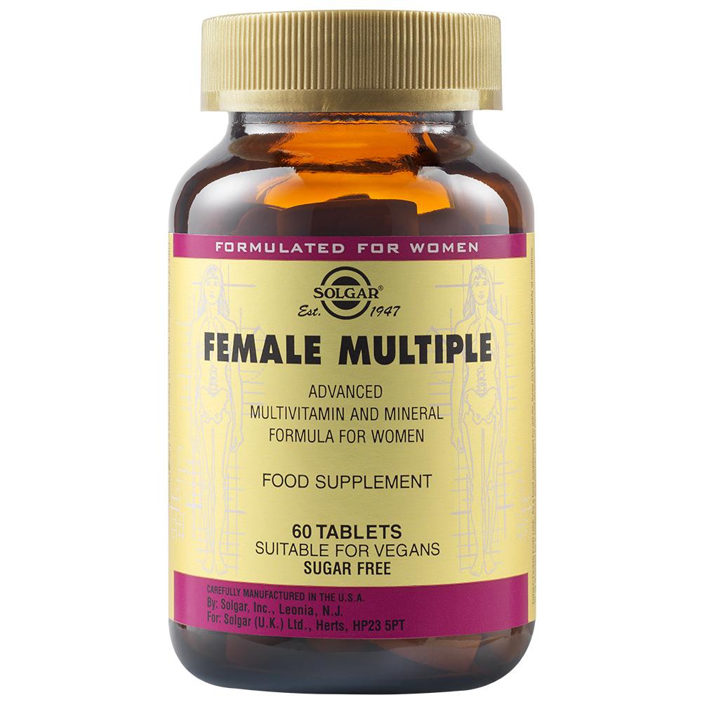 Multivitamine și minerale pentru femei Female Multiple, 60 tablete, Solgar