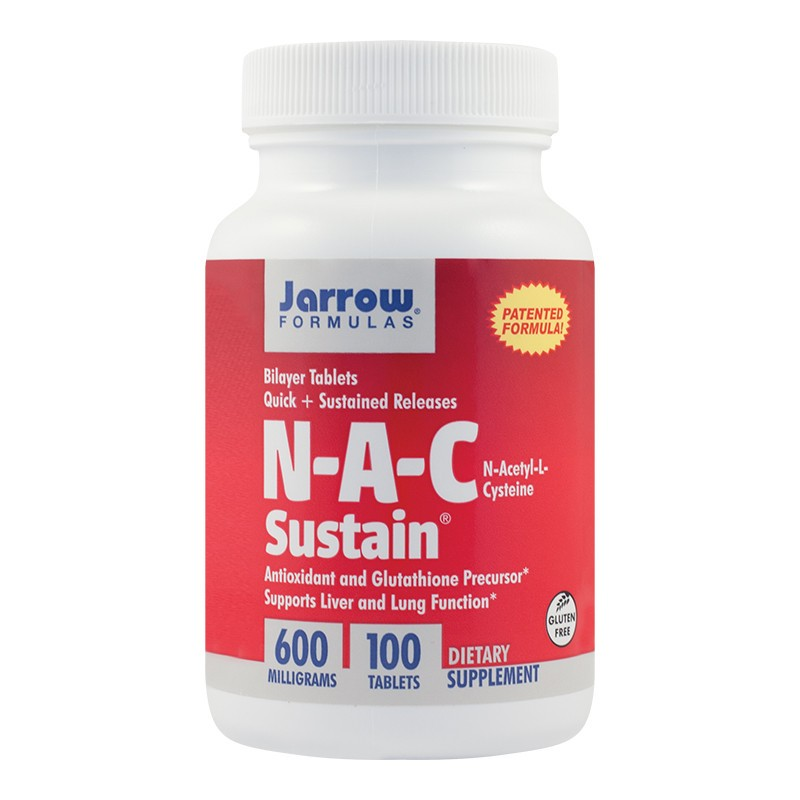 N-A-C Sustain 600mg Jarrow Formulas, 100 tablete, Secom