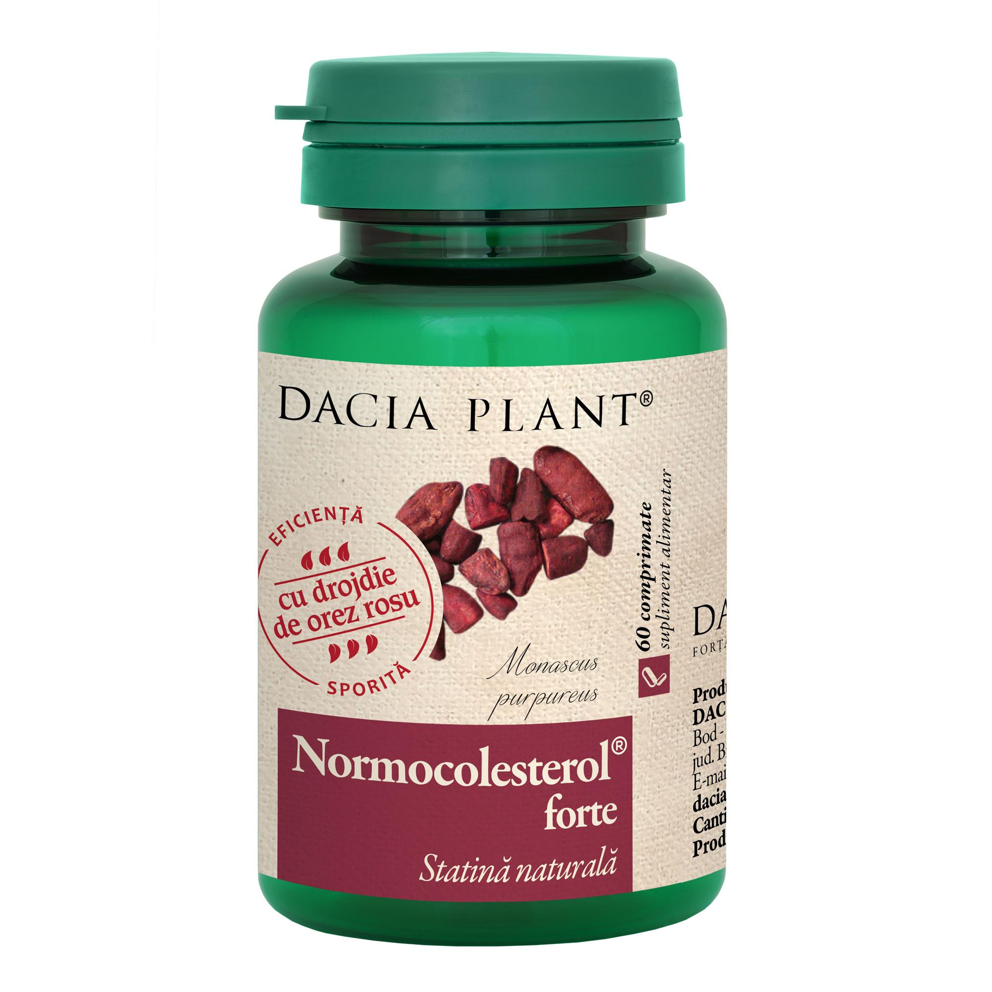 Normocolesterol forte, 60 comprimate, Dacia Plant
