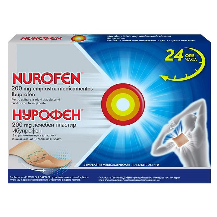 Nurofen 200 mg emplastru medicamentos, 2 bucăți, Reckitt Benckiser Healthcare
