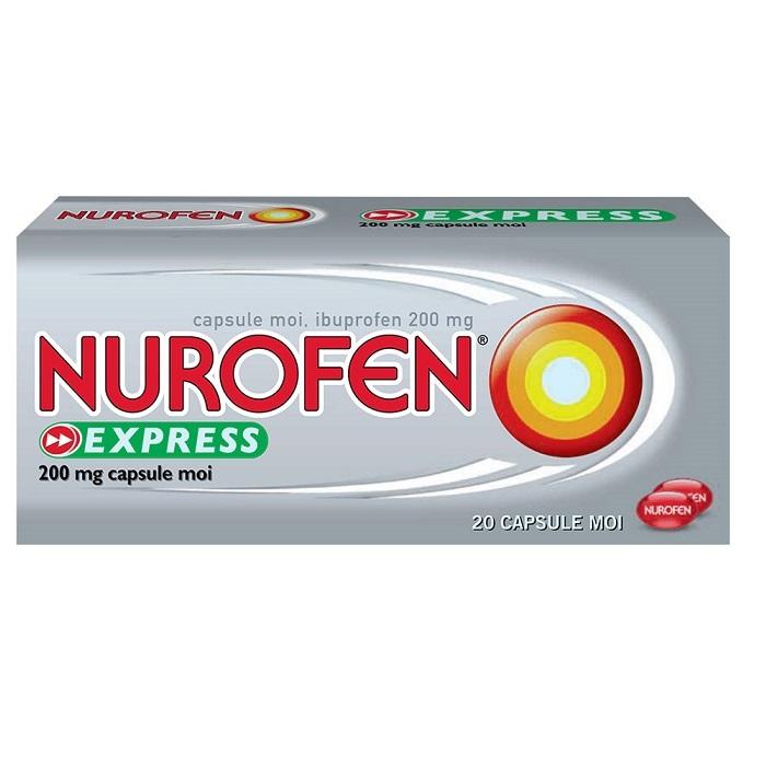 Nurofen Express 200mg, 20 capsule, Reckitt Benckiser Healthcare