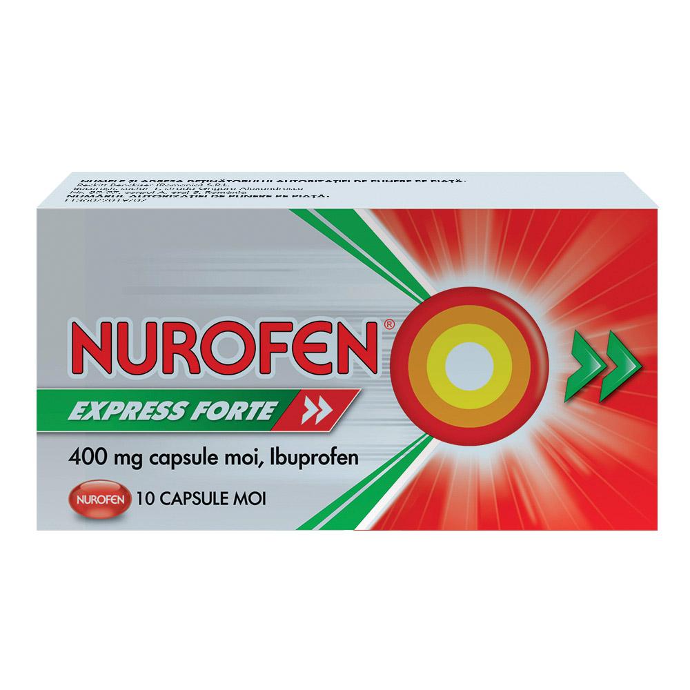 Nurofen Express Forte 400 mg, 10 capsule, Reckitt Benckiser Healthcare