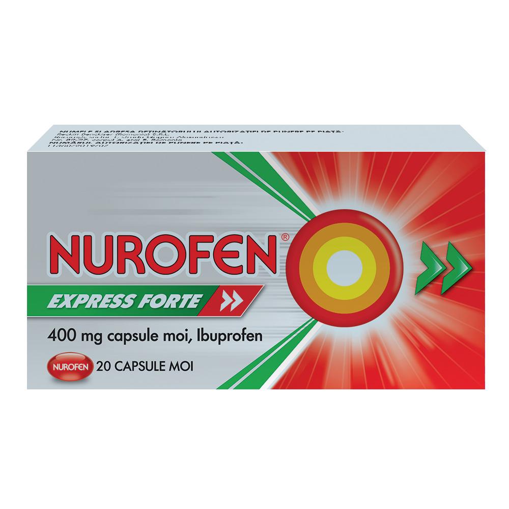 Nurofen Express Forte 400 mg, 20 capsule, Reckitt Benckiser Healthcare