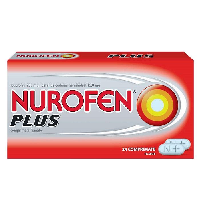 Nurofen Plus, 24 tablete, Reckitt Benckiser Healthcare