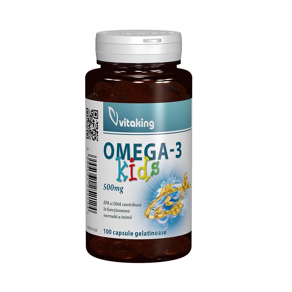 Omega 3 pentru copii, 100 capsule, Vitaking
