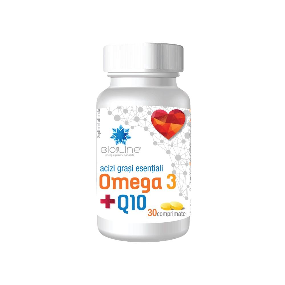 Omega 3 și Coenzima Q10, BioSunLine, 30 tablete, Helcor