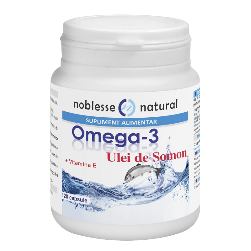 Omega 3 Ulei de Somon si Vitamina E, 120 capsule, Noblesse