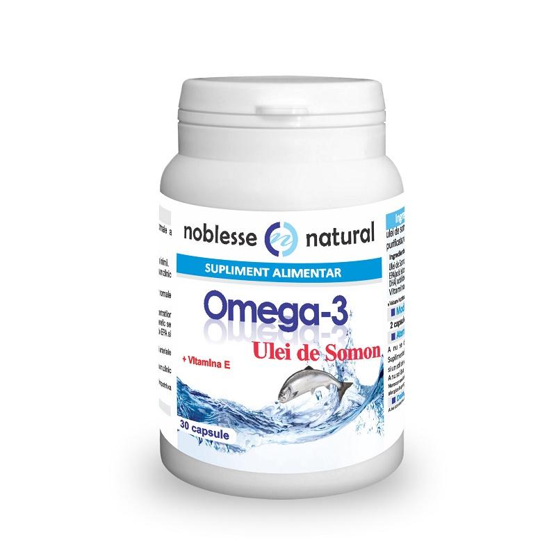 Omega 3 Ulei de Somon si Vitamina E, 30 capsule, Noblesse