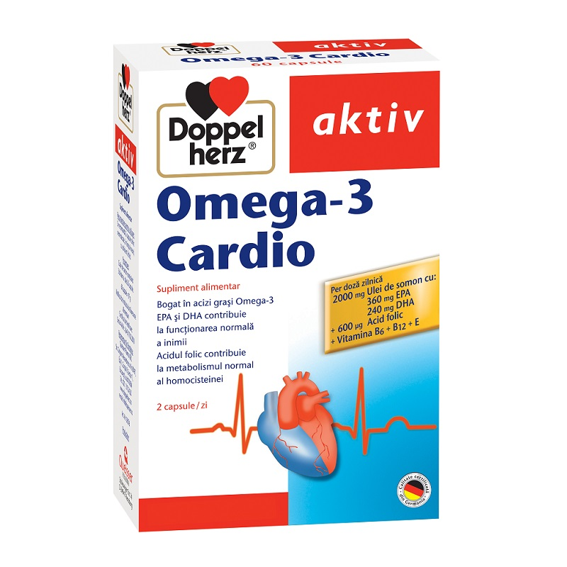 Omega-3 Cardio pentru inimă, 60 capsule, Doppelherz
