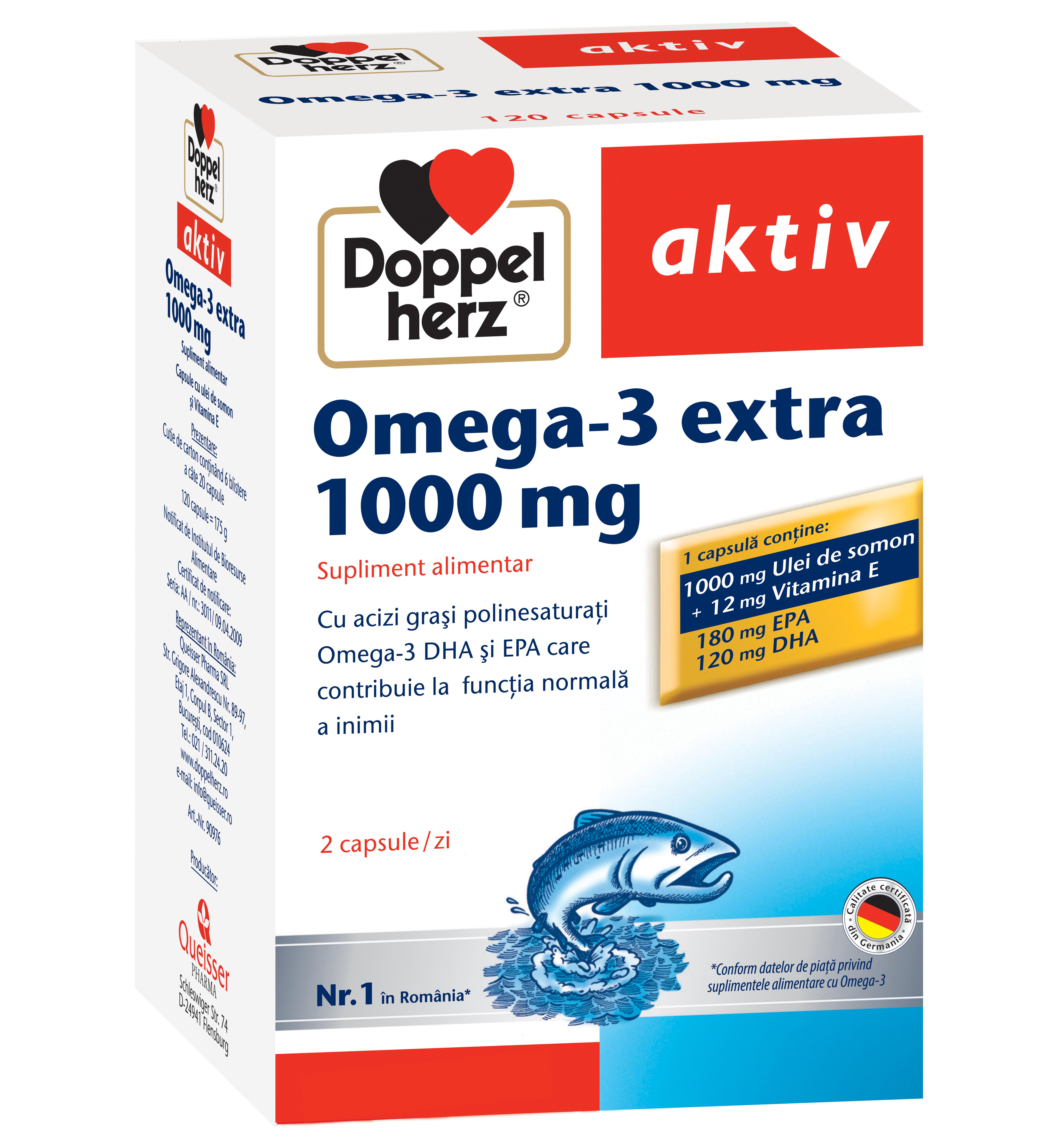 Omega-3 extra 1000 mg, 120 capsule, Doppelherz