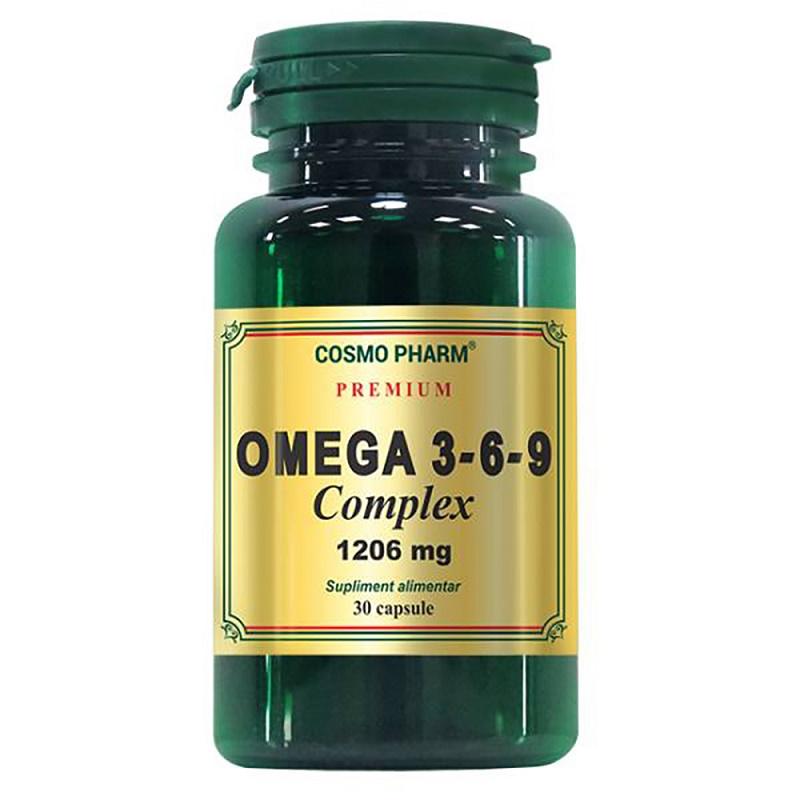 Premium Omega 3-6-9 Complex 1206 mg, 30 capsule, Cosmopharm