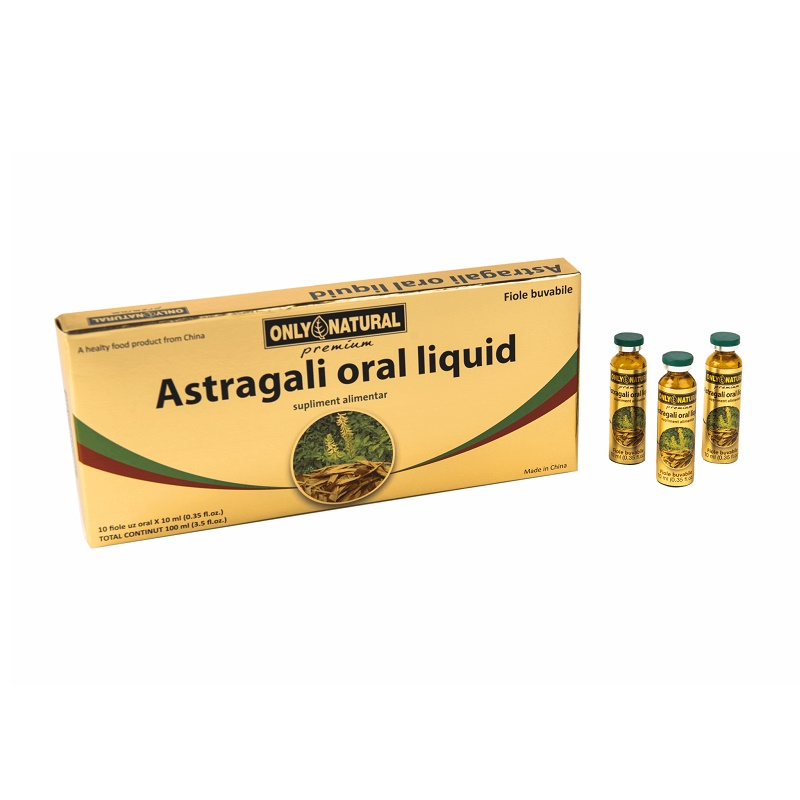 Astragali oral lichid, 10 fiole, Only Natural