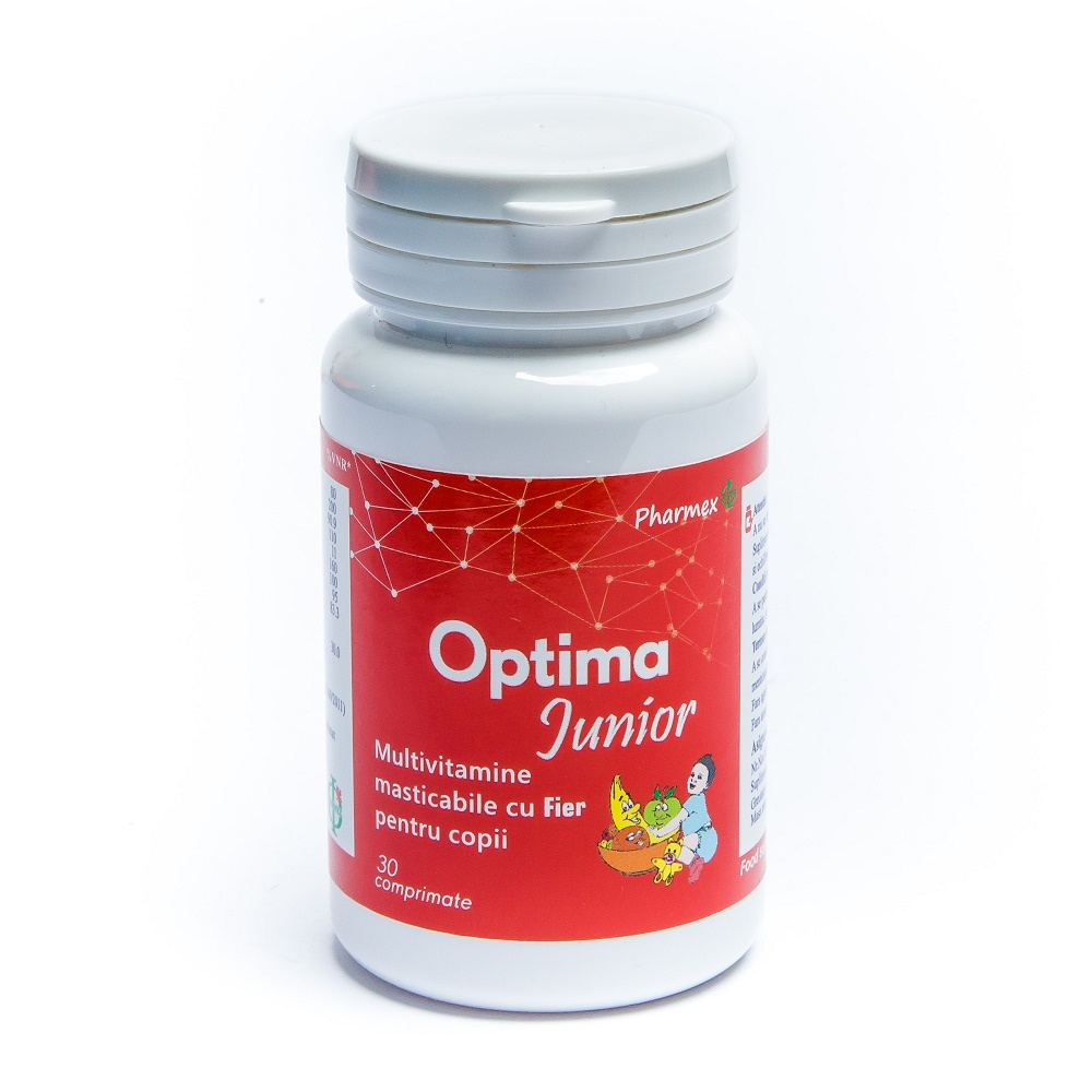 Optima Junior Plus Fier, 30 comprimate, Pharmex