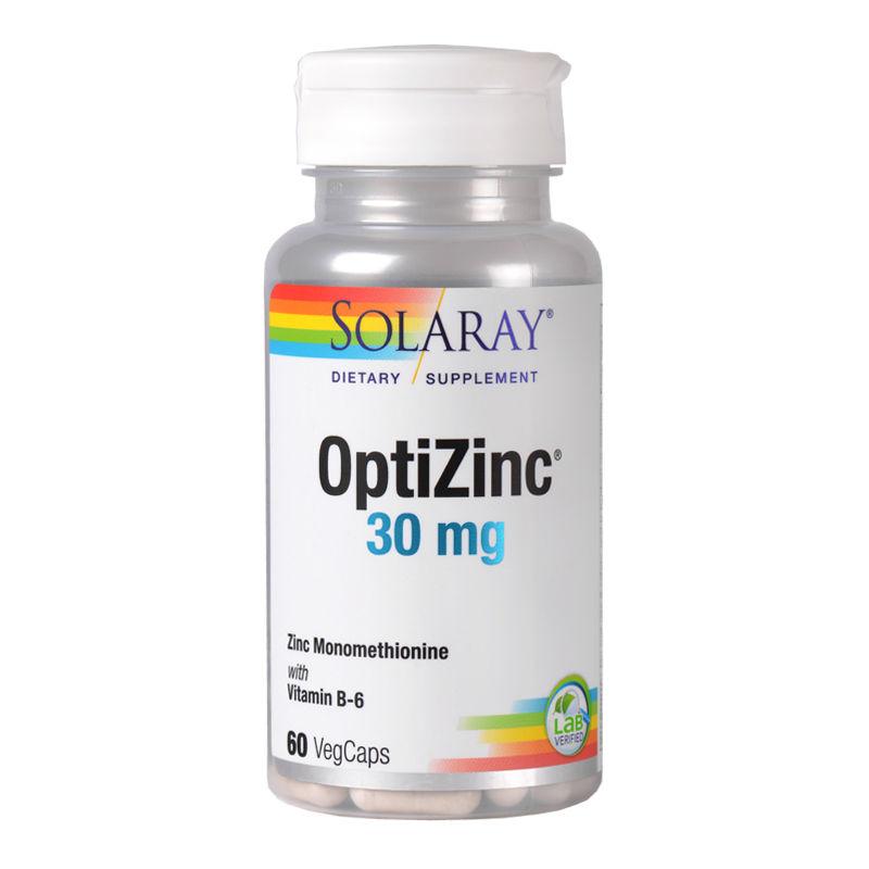 OptiZinc 30 mg Solaray, 60 capsule, Secom