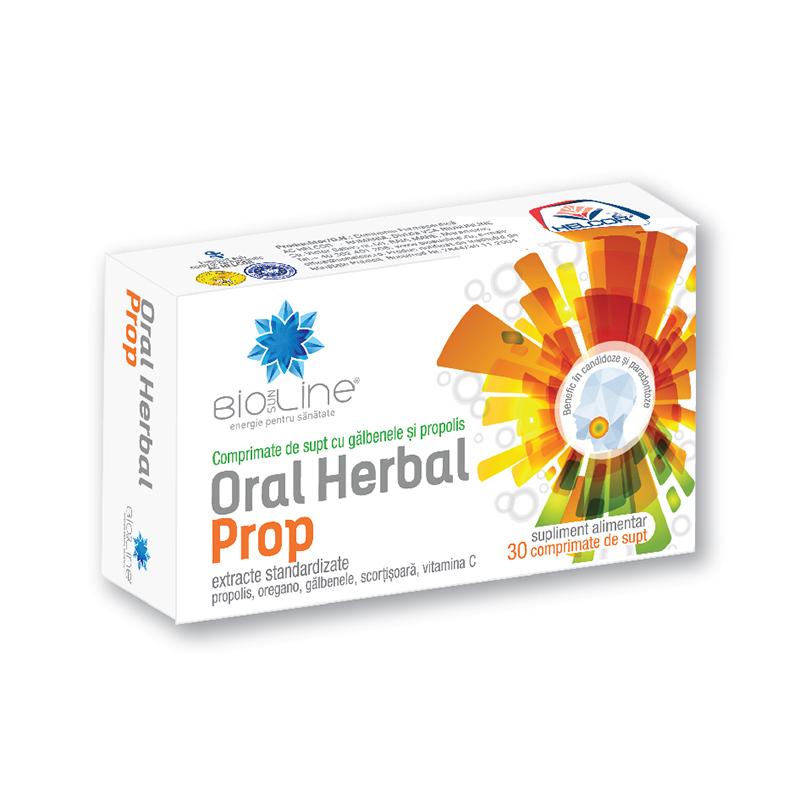Oral Herbal Prop, 30 tablete, Helcor