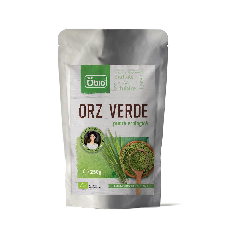 Orz verde pulbere bio, 250g, Obio