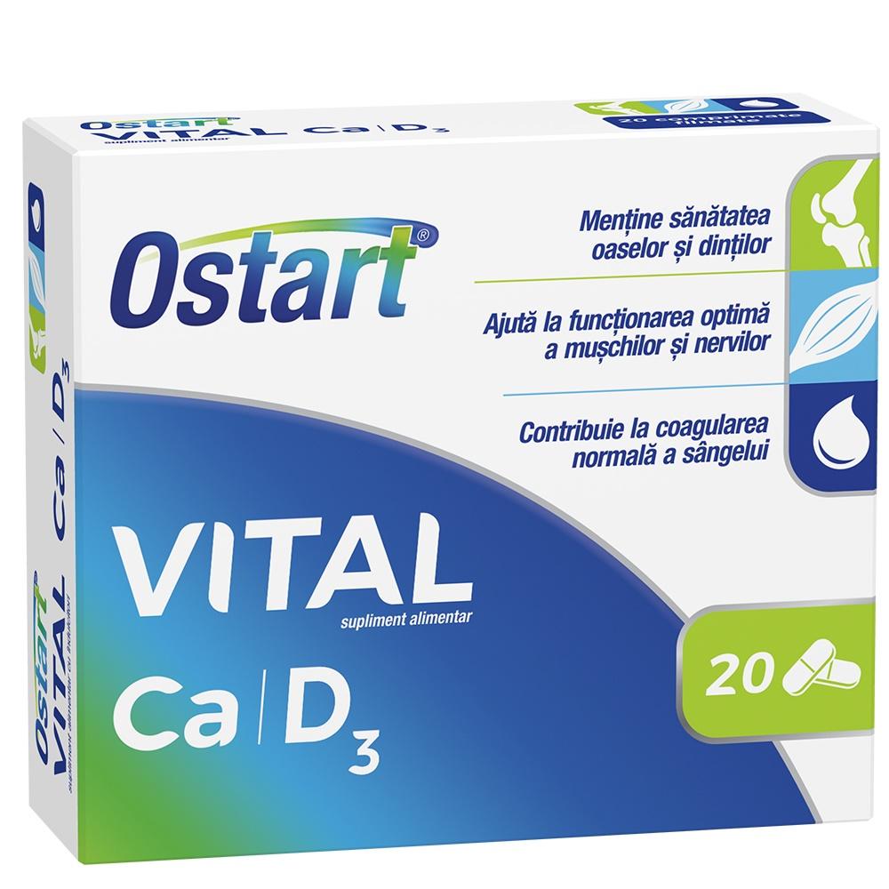 Ostart Vital Ca + D3, 20 comprimate, Fiterman