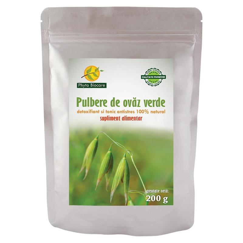 Pulbere de ovăz verde, 200 g, Phyto Biocare