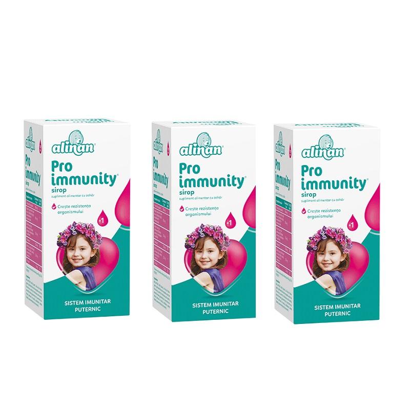 Pachet Sirop Pro Immunity Alinan (3 la pret de 2), 150 ml, Fiterman Pharma