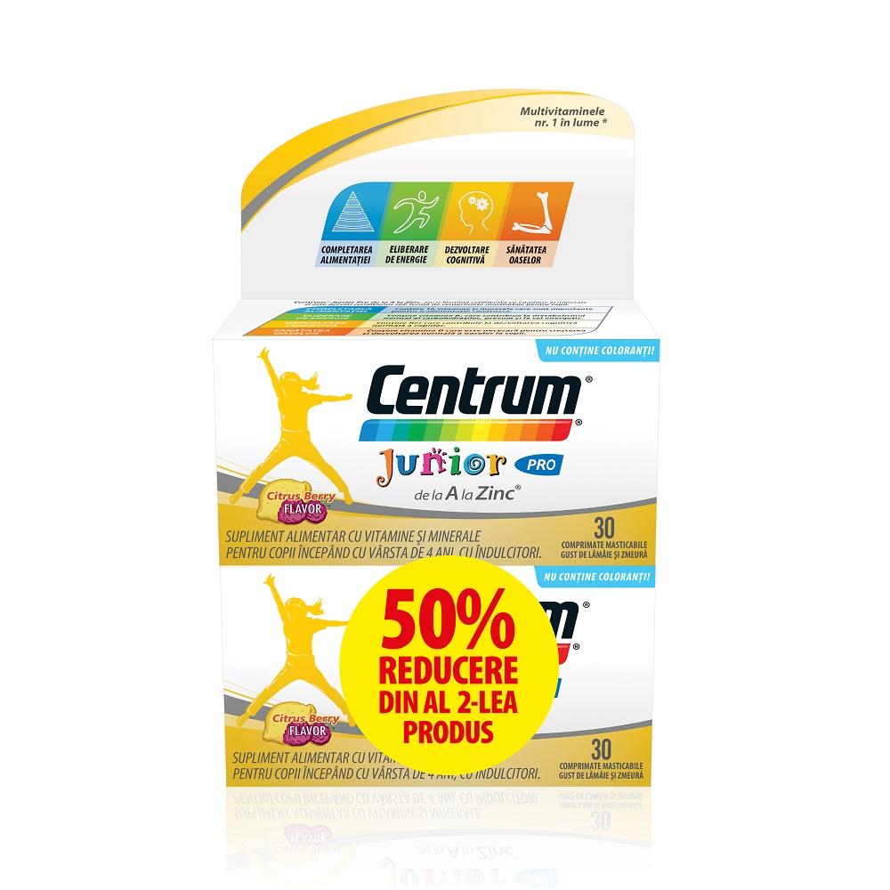 Pachet Centrum Junior A-Z Pro, 30 comprimate (50% reducere la al doilea produs), Gsk