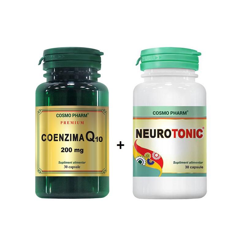 Pachet Coenzima Q10 200 mg, 30 capsule + Neurotonic, 30 capsule, Cosmopharm