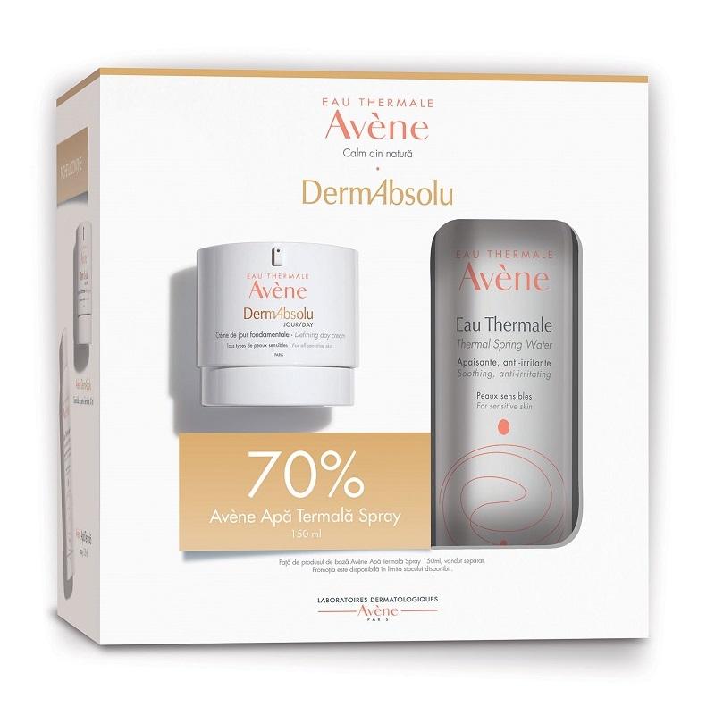 Pachet Crema de zi pentru fermitate DermAbsolu, 40 ml + Apa termala spray, 150 ml, Avene