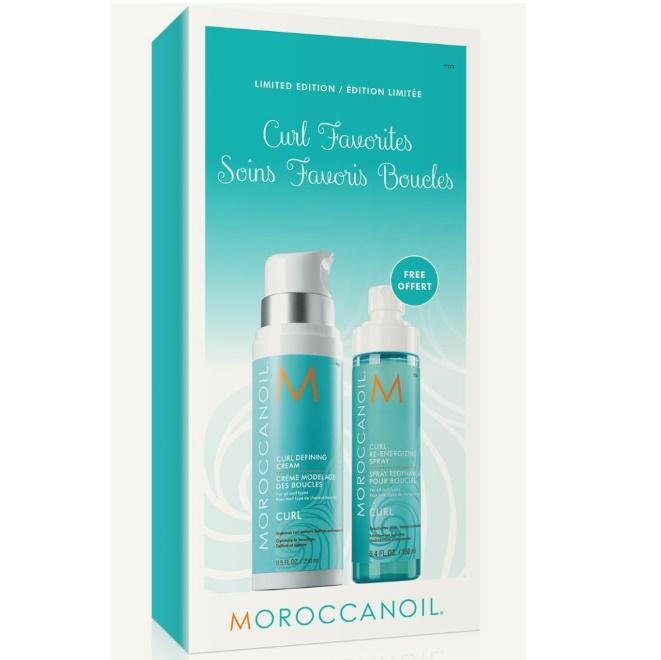 Pachet Crema moroccanoil pentru definirea buclelor, 250 ml + Spray Curl Re-Energizing, 160 ml, Moroccanoil