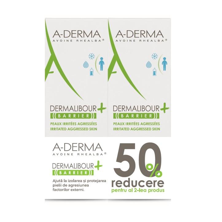 Pachet Crema protectoare Dermalibour Barrier, 100 ml + 100 ml 50% reducere al doilea produs, A-Derma